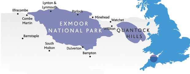 Holiday Cottages on Exmoor in South West England for your exmoor holidays